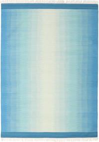 Ikat - Blå/Turquoise Teppe 210X290 Ekte Moderne Håndvevd Lys Blå/Turkis Blå (Ull, India)