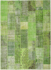 Patchwork Teppe 272X373 Ekte Moderne Håndknyttet Lysgrønn/Mørk Grønn Stort (Ull, Tyrkia)
