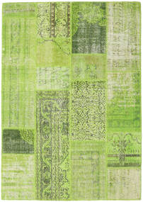 Patchwork Teppe 160X228 Ekte Moderne Håndknyttet Lysgrønn/Olivengrønn (Ull, Tyrkia)