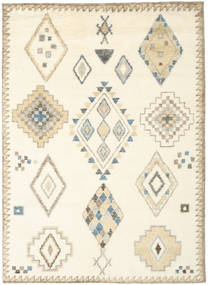 Berber Indisk - Off White/Beige Teppe 210X290 Ekte Moderne Håndknyttet Hvit/Creme/Beige (Ull, India)