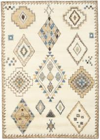 Berber Indisk - Off White/Beige Teppe 160X230 Ekte Moderne Håndknyttet Beige/Lysbrun (Ull, India)