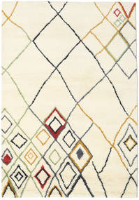 Berber Indisk - Off-Vit/Multi Teppe 160X230 Ekte Moderne Håndknyttet Beige/Hvit/Creme (Ull, India)