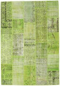 Patchwork Teppe 204X298 Ekte Moderne Håndknyttet Lysgrønn/Olivengrønn (Ull, Tyrkia)