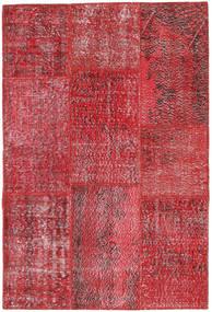 Patchwork Teppe 121X181 Ekte Moderne Håndknyttet Mørk Rød/Rød (Ull, Tyrkia)