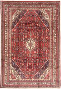 Hamadan Teppe 213X317 Ekte Orientalsk Håndknyttet Mørk Rød/Lyserosa (Ull, Persia/Iran)