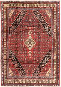 Hamadan Teppe 218X310 Ekte Orientalsk Håndknyttet Mørk Rød/Brun (Ull, Persia/Iran)