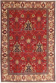 Tabriz Patina Teppe 210X322 Ekte Orientalsk Håndknyttet Mørk Rød/Rust (Ull, Persia/Iran)