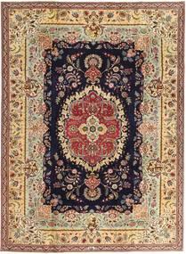 Tabriz Patina Teppe 216X295 Ekte Orientalsk Håndknyttet Mørk Beige/Brun (Ull, Persia/Iran)