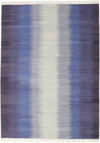 Ikat - Mørk Blå Teppe 210X290 Ekte Moderne Håndvevd Lys Grå/Lilla (Ull, India)