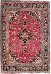 Mashad Patina Teppe 195X278 Ekte Orientalsk Håndknyttet Mørk Rød/Rust (Ull, Persia/Iran)