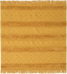 Kelim Berber Ibiza - Mustard Yellow Teppe 200X200 Ekte Moderne Håndvevd Kvadratisk Orange/Lysbrun (Ull, India)