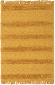 Kelim Berber Ibiza - Mustard Yellow Teppe 160X230 Ekte Moderne Håndvevd Orange/Lysbrun (Ull, India)