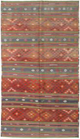Kelim Tyrkiske Teppe 180X317 Ekte Orientalsk Håndvevd Mørk Rød/Rust (Ull, Tyrkia)