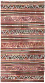 Kelim Tyrkiske Teppe 177X335 Ekte Orientalsk Håndvevd Rust/Lys Grå (Ull, Tyrkia)