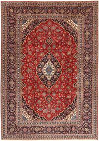 Keshan Teppe 254X365 Ekte Orientalsk Håndknyttet Mørk Rød/Mørk Brun Stort (Ull, Persia/Iran)