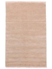 Handloom Fringes - Rosrosa Teppe 140X200 Moderne Lyserosa/Beige (Ull, India)