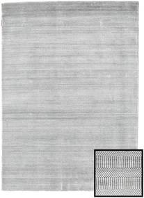 Bamboo Grass - Grå Teppe 140X200 Moderne Lys Grå/Hvit/Creme (Ull/Bambus Silke, Tyrkia)