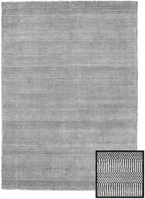 Bamboo Grass - Black_ Grå Teppe 140X200 Moderne Lys Grå/Mørk Grå (Ull/Bambus Silke, Tyrkia)