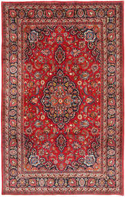 Mashad Teppe 199X317 Ekte Orientalsk Håndknyttet Mørk Rød/Rust (Ull, Persia/Iran)