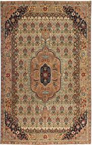 Tabriz Patina Teppe 195X305 Ekte Orientalsk Håndknyttet Brun/Lysbrun (Ull, Persia/Iran)