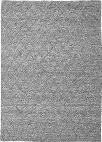 Rut - Mørk Grå Melange Teppe 250X350 Ekte Moderne Håndvevd Lys Grå/Mørk Brun Stort (Ull, India)