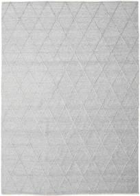 Svea - Sølvgrå Teppe 250X350 Ekte Moderne Håndvevd Lys Grå/Hvit/Creme Stort (Ull, India)