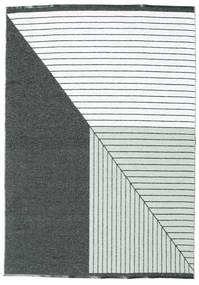 Utendørsteppe Diagonal - Svart/Grønn Teppe 150X210 Moderne Beige/Svart ( Sverige )