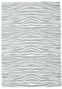 Utendørsteppe Zebra - Grønn Teppe 150X210 Moderne Lys Blå/Beige ( Sverige )