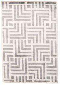 Maze Teppe 170X240 Ekte Moderne Håndknyttet Lys Grå/Beige ( India)