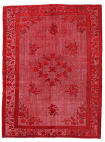Colored Vintage Relief Teppe 216X290 Ekte Moderne Håndknyttet Rød/Rust (Ull, Tyrkia)