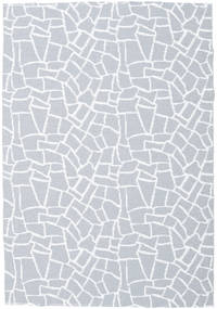 Utendørsteppe Terrazzo - Grå/Vit Teppe 150X210 Moderne Lys Blå/Beige ( Sverige )