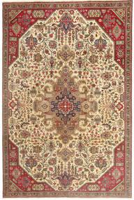 Tabriz Patina Teppe 190X280 Ekte Orientalsk Håndknyttet Lysbrun/Mørk Beige (Ull, Persia/Iran)