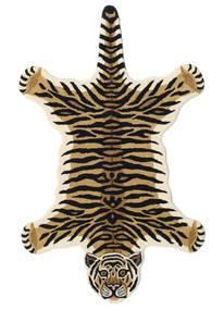 Tiger - Beige Teppe 100X160 Moderne Mørk Blå/Lysbrun (Ull, India)