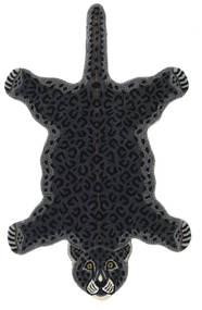 Leopard - Svart Teppe 100X160 Moderne Mørk Grå (Ull, India)
