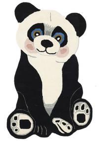 Panda Baby Teppe 100X160 Moderne Mørk Grå/Beige (Ull, India)