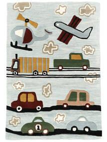 Cars Handtufted Teppe 120X180 Moderne Lys Blå/Lys Grå (Ull, India)