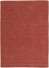 Kelim Loom - Rust Teppe 160X230 Ekte Moderne Håndvevd Mørk Rød (Ull, India)