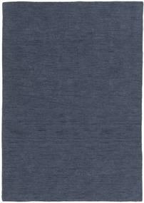 Kelim Loom - Denim Blå Teppe 160X230 Ekte Moderne Håndvevd Blå (Ull, India)