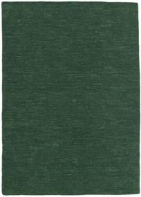 Kelim Loom - Skogsgrønn Teppe 160X230 Ekte Moderne Håndvevd Mørk Grønn (Ull, India)
