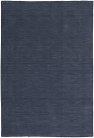 Kelim Loom - Denim Blå Teppe 200X300 Ekte Moderne Håndvevd Mørk Blå/Blå (Ull, India)