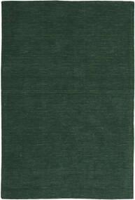 Kelim Loom - Skogsgrønn Teppe 200X300 Ekte Moderne Håndvevd Mørk Grønn (Ull, India)