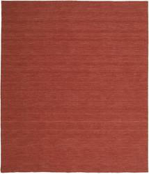 Kelim Loom - Rust Teppe 250X300 Ekte Moderne Håndvevd Mørk Rød Stort (Ull, India)