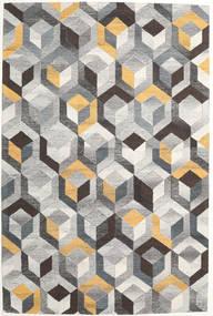 Cube - Grå/Gull Teppe 200X300 Moderne Lys Grå/Mørk Grå (Ull, India)