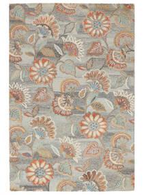 Rusty Flowers - Grå/Rust Teppe 200X300 Moderne Lys Grå/Mørk Beige (Ull, India)