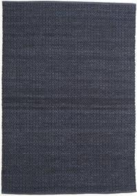 Alva - Blå/Svart Teppe 140X200 Ekte Moderne Håndvevd Mørk Blå/Lilla (Ull, India)