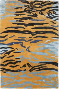 Love Tiger - Oransje/Grå Teppe 250X350 Moderne Lysbrun/Svart Stort ( India)