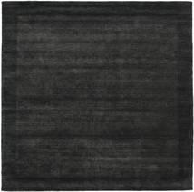 Handloom Frame - Svart/Mørk Grå Teppe 300X300 Moderne Kvadratisk Svart Stort (Ull, India)