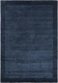 Handloom Frame - Mørk Blå Teppe 160X230 Moderne Mørk Blå (Ull, India)
