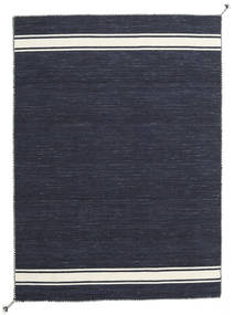 Ernst - Navy/Off White Teppe 140X200 Ekte Moderne Håndvevd Mørk Blå/Mørk Grå (Ull, India)