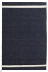 Ernst - Navy/Off White Teppe 200X300 Ekte Moderne Håndvevd Mørk Blå (Ull, India)
